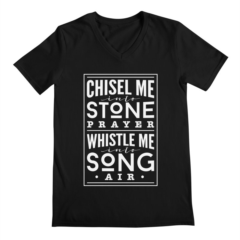 Chisel Me & Whistle Me Men's Regular V-Neck by Tie Them As Symbols