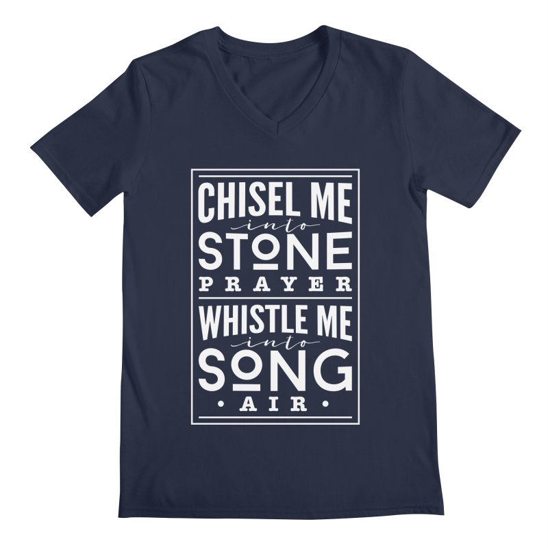 Chisel Me & Whistle Me Men's Regular V-Neck by Tie Them As Symbols