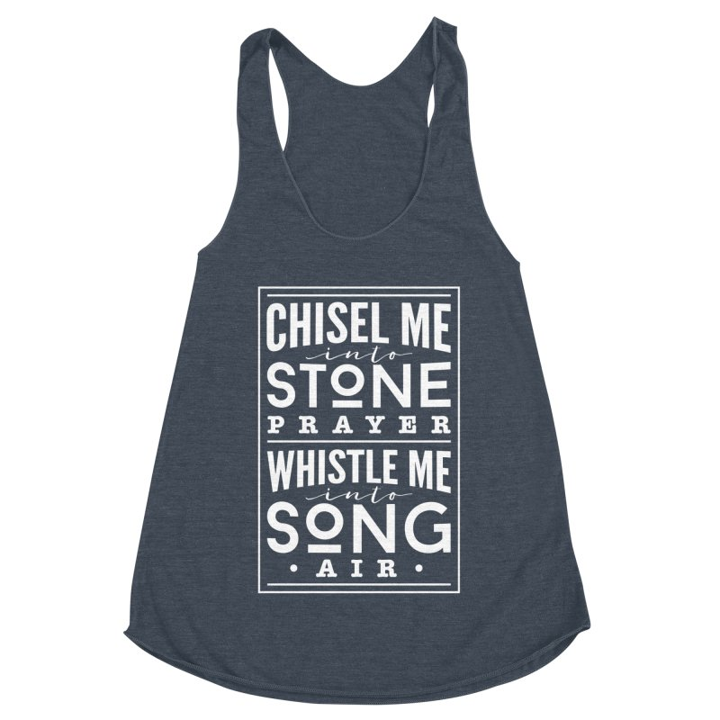 Chisel Me & Whistle Me Women's Racerback Triblend Tank by Tie Them As Symbols