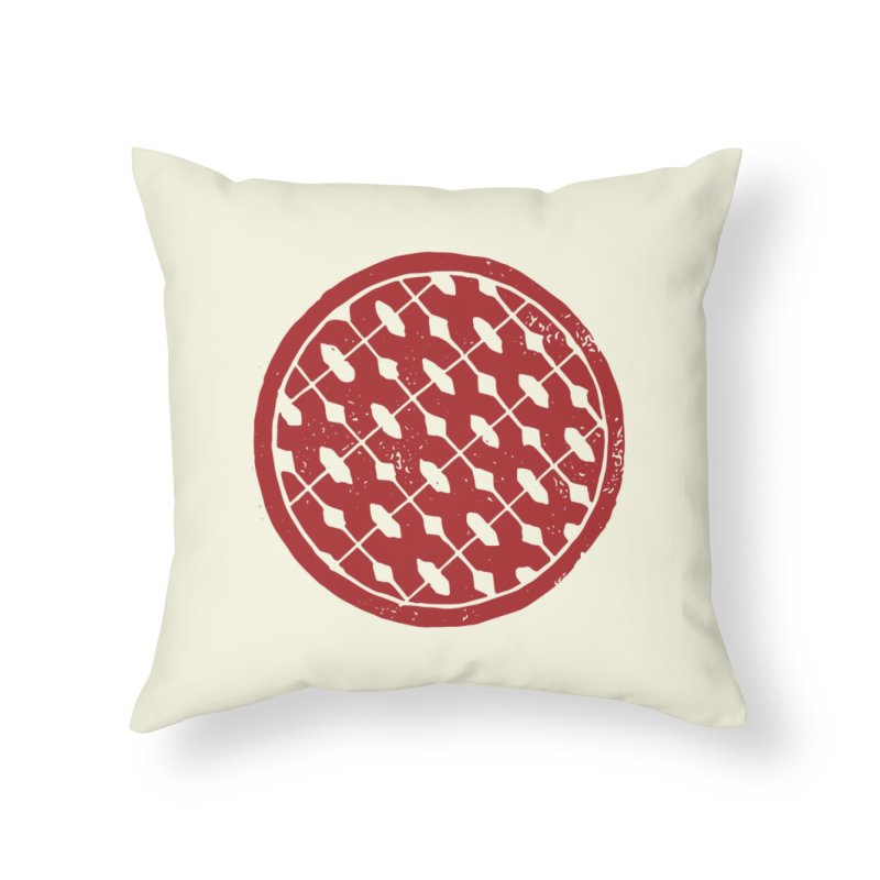 Spenny's Linocut Thinger Home Throw Pillow by Tucker Makes Shirts