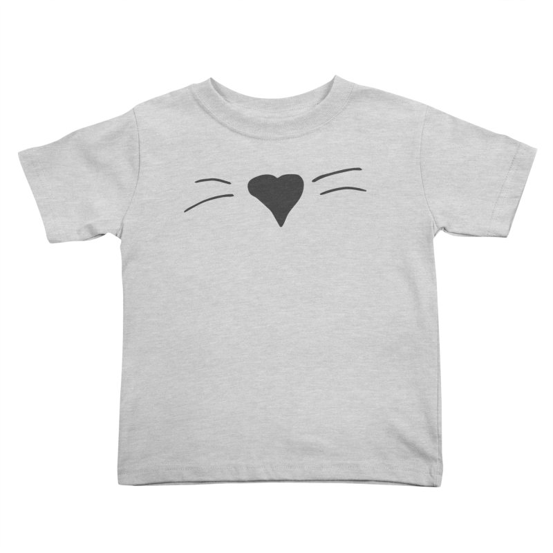 Kitty Heart - Dark Grey Kids Toddler T-Shirt by Tucker Makes Shirts