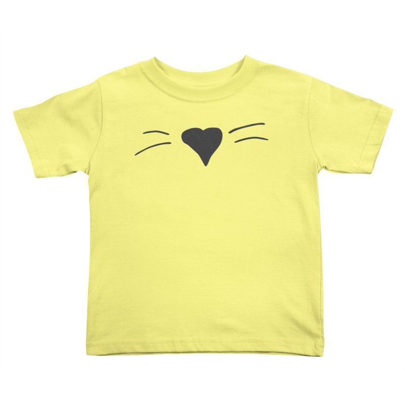 Kitty Heart - Dark Grey Kids Toddler T-Shirt by Tucker Makes Shirts
