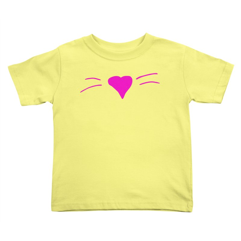 Kitty Heart - Pink Kids Toddler T-Shirt by Tucker Makes Shirts
