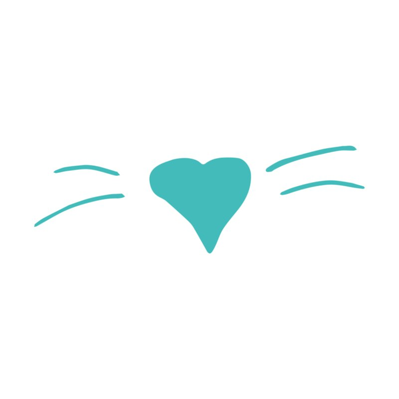 Kitty Heart - Teal Women's T-Shirt by Tucker Makes Shirts