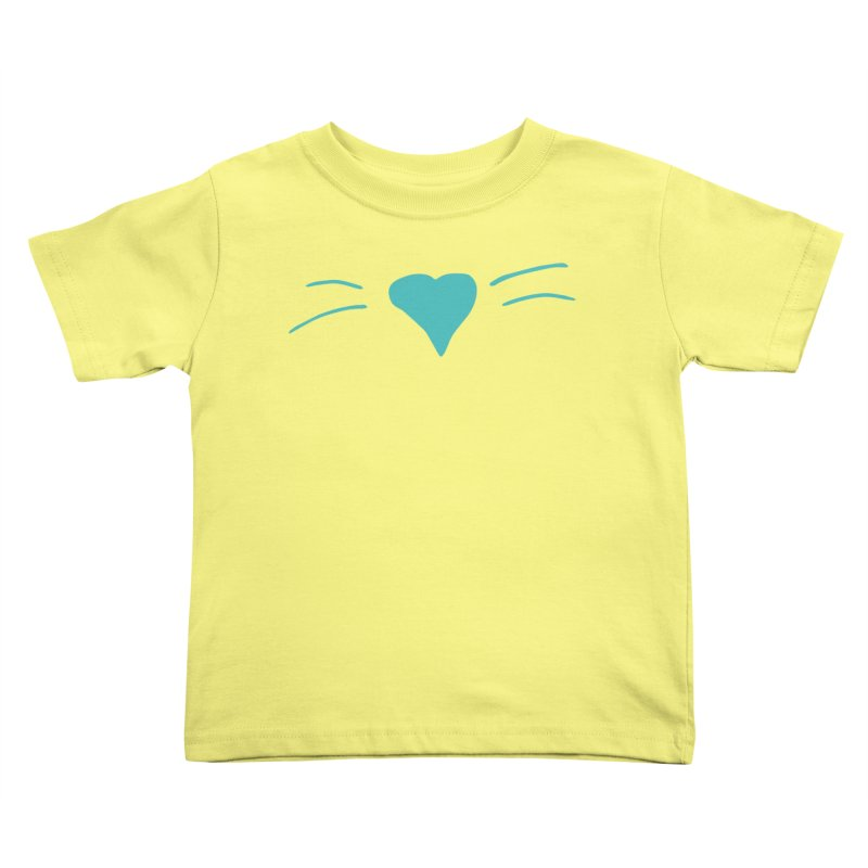 Kitty Heart - Teal Kids Toddler T-Shirt by Tucker Makes Shirts