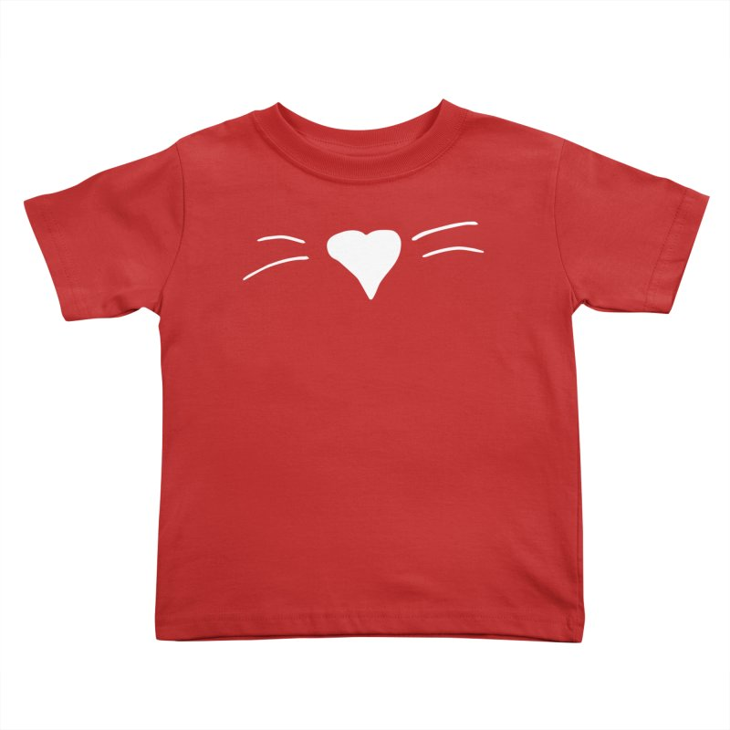 Kitty Heart - White Kids Toddler T-Shirt by Tucker Makes Shirts