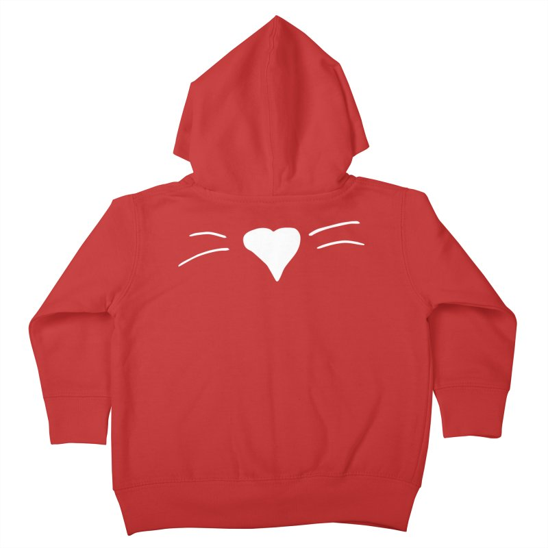 Kitty Heart - White Kids Toddler Zip-Up Hoody by Tucker Makes Shirts