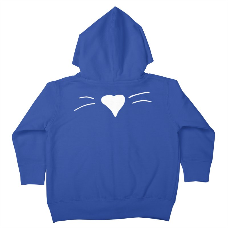 Kitty Heart - White Kids Toddler Zip-Up Hoody by Tucker Makes Shirts