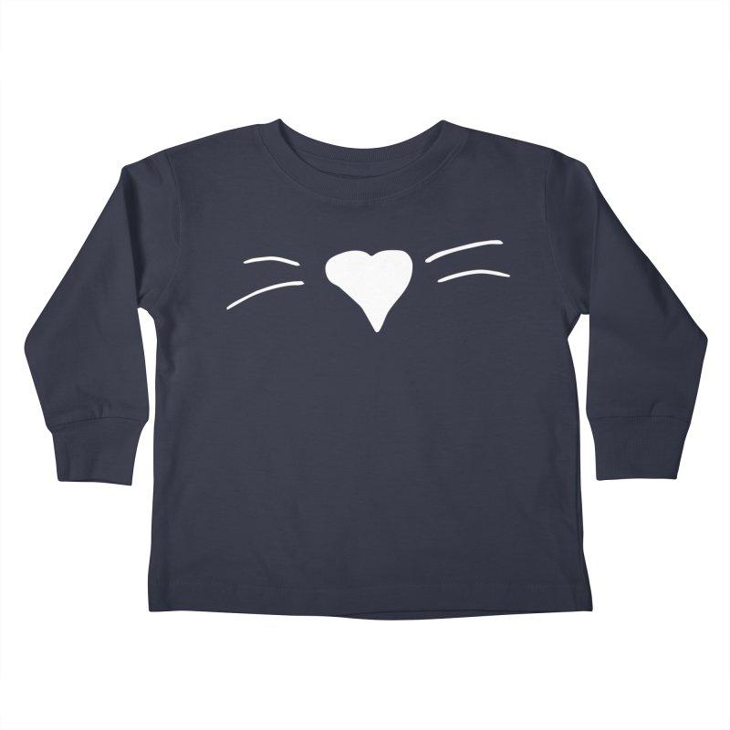 Kitty Heart - White Kids Toddler Longsleeve T-Shirt by Tucker Makes Shirts