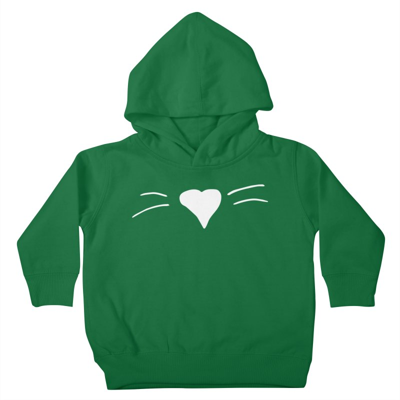 Kitty Heart - White Kids Toddler Pullover Hoody by Tucker Makes Shirts
