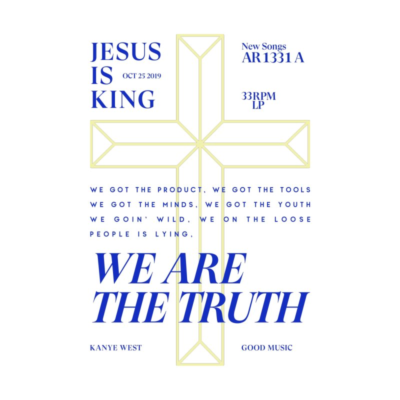 Kanye West Jesus Is King Men's T-Shirt by tulleceria