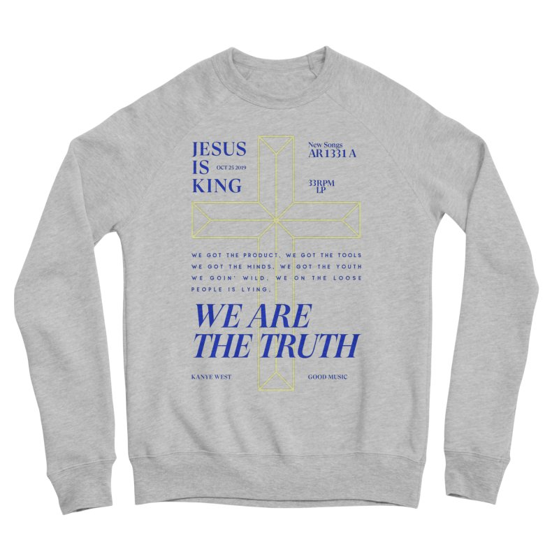 Kanye West Jesus Is King Men's Sponge Fleece Sweatshirt by tulleceria