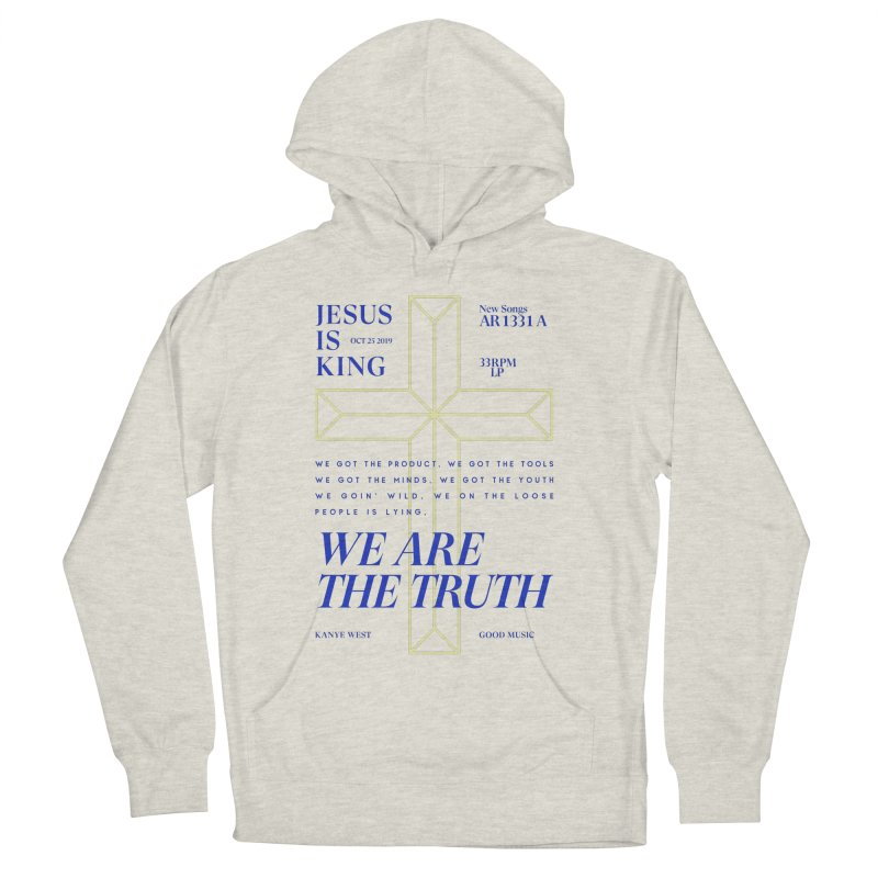 Kanye West Jesus Is King Men's French Terry Pullover Hoody by tulleceria