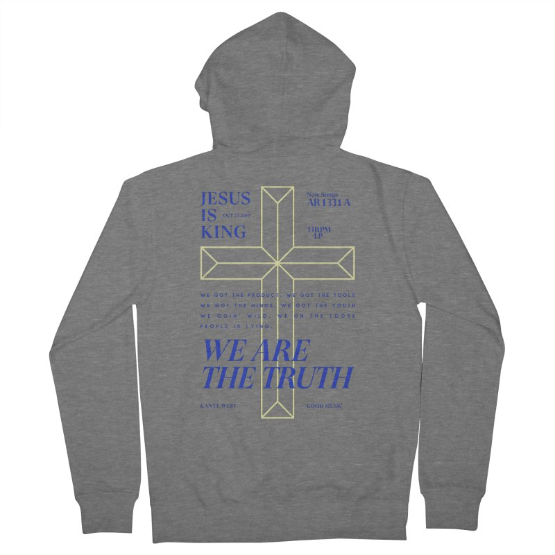 Kanye West Jesus Is King Women's French Terry Zip-Up Hoody by tulleceria
