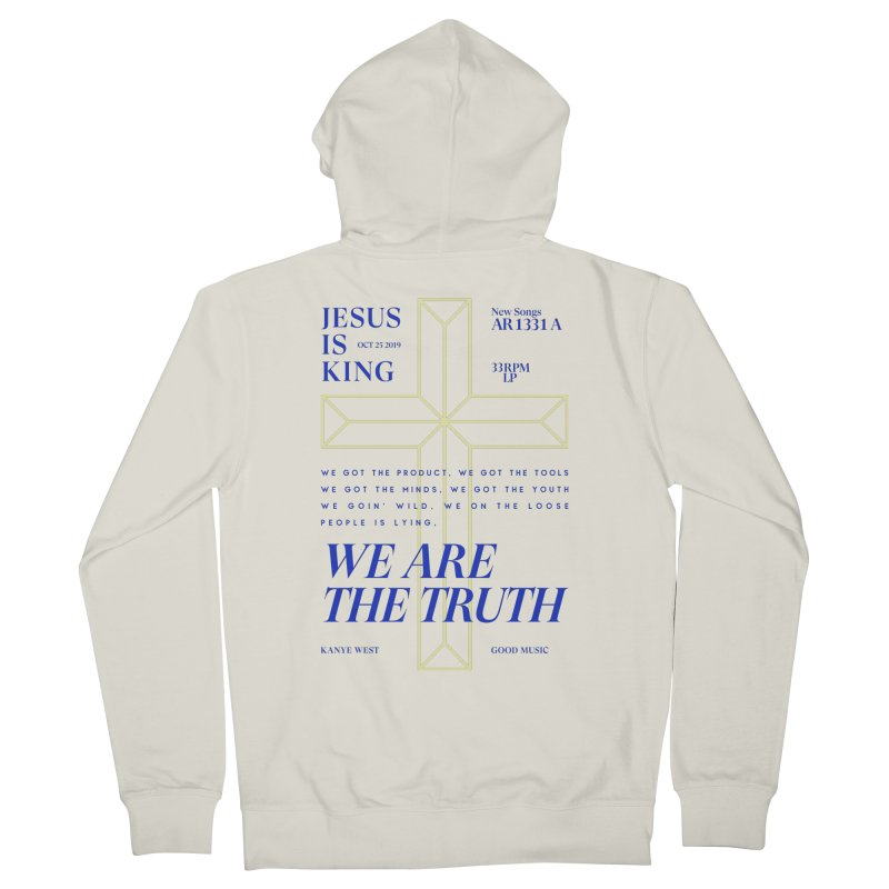 Kanye West Jesus Is King Men's French Terry Zip-Up Hoody by tulleceria