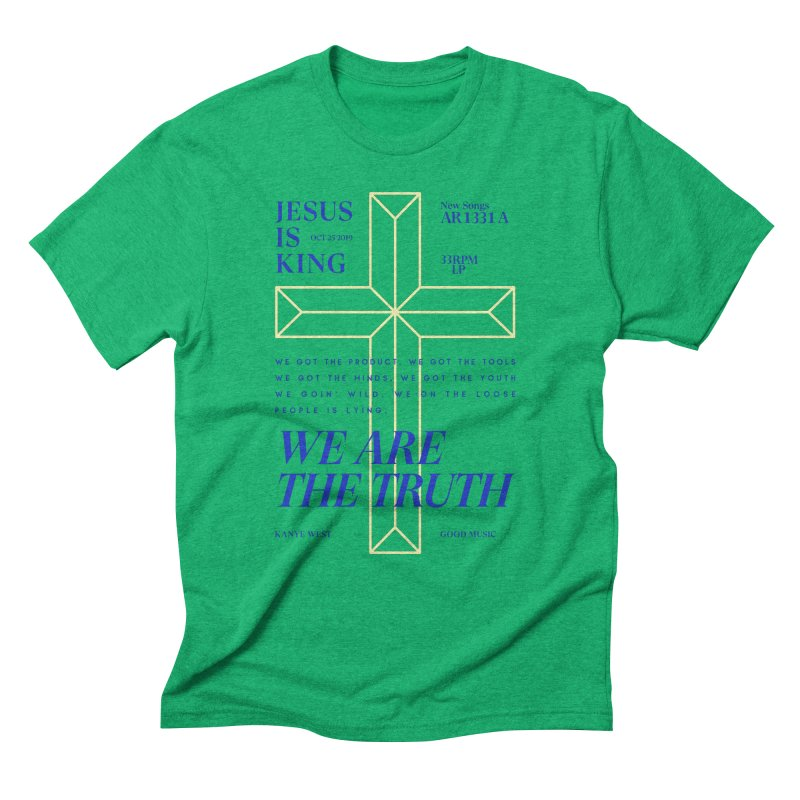 Kanye West Jesus Is King Men's Triblend T-Shirt by tulleceria