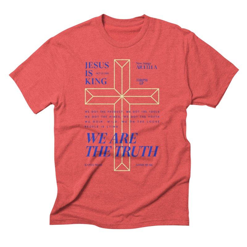 Kanye West Jesus Is King Men's Triblend T-Shirt by tulleceria