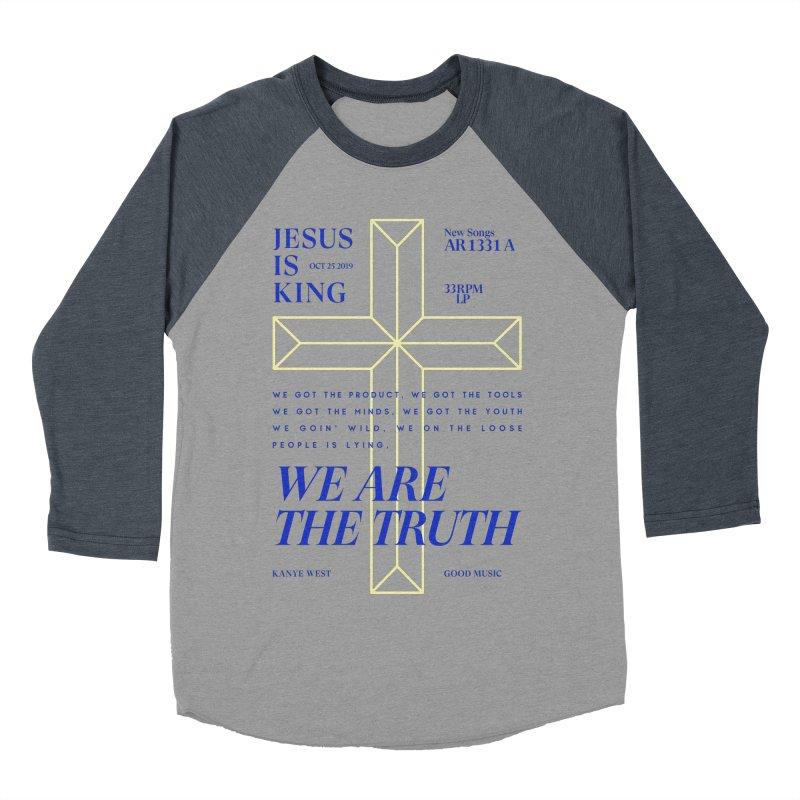 Kanye West Jesus Is King Women's Baseball Triblend Longsleeve T-Shirt by tulleceria