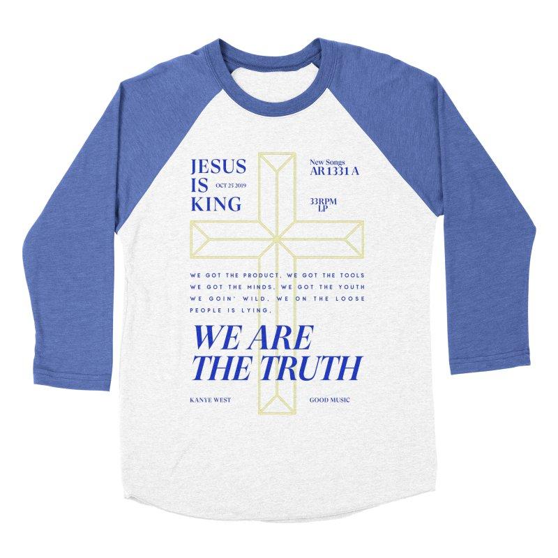 Kanye West Jesus Is King Men's Baseball Triblend Longsleeve T-Shirt by tulleceria