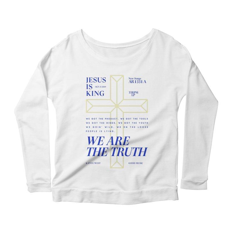 Kanye West Jesus Is King Women's Scoop Neck Longsleeve T-Shirt by tulleceria