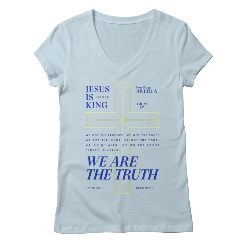 Kanye West Jesus Is King Women's V-Neck by tulleceria
