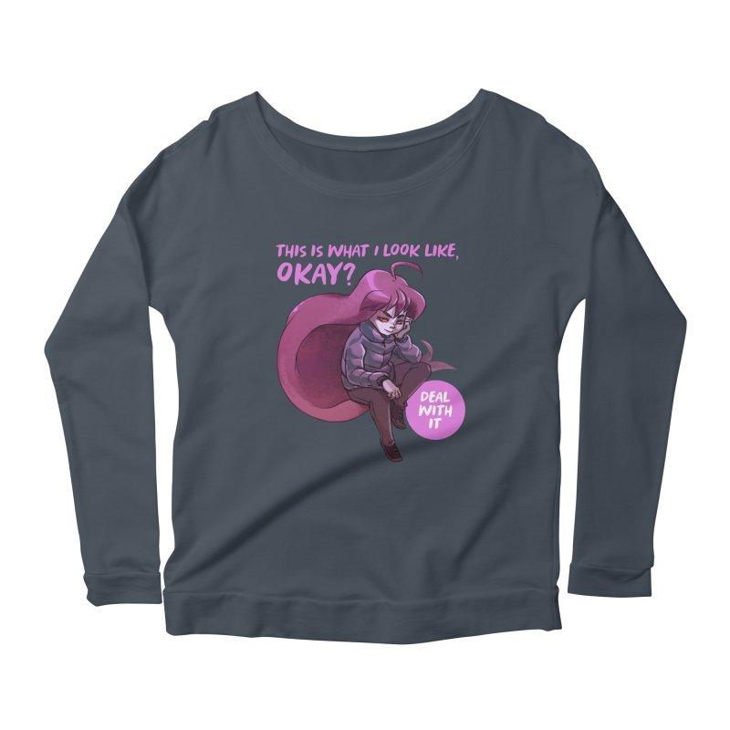 Badeline Women's Scoop Neck Longsleeve T-Shirt by tulleceria