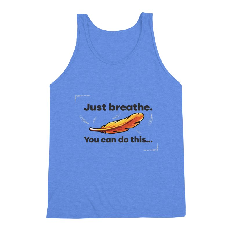 Feather Men's Triblend Tank by tulleceria