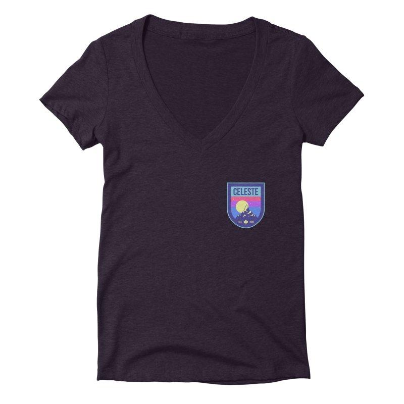 Badge Women's Deep V-Neck V-Neck by tulleceria