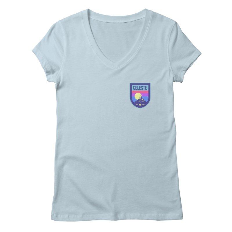Badge Women's V-Neck by tulleceria
