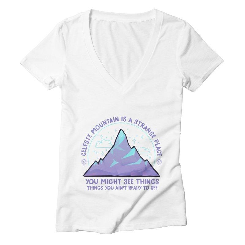 Mountain Women's Deep V-Neck V-Neck by tulleceria