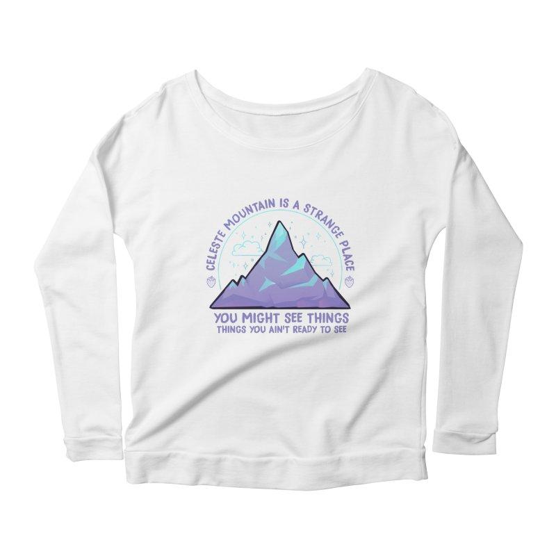 Mountain Women's Scoop Neck Longsleeve T-Shirt by tulleceria