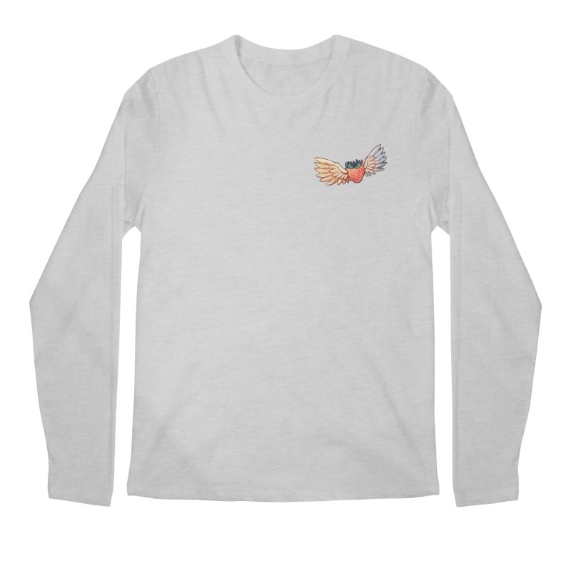 Strawberry Men's Regular Longsleeve T-Shirt by tulleceria