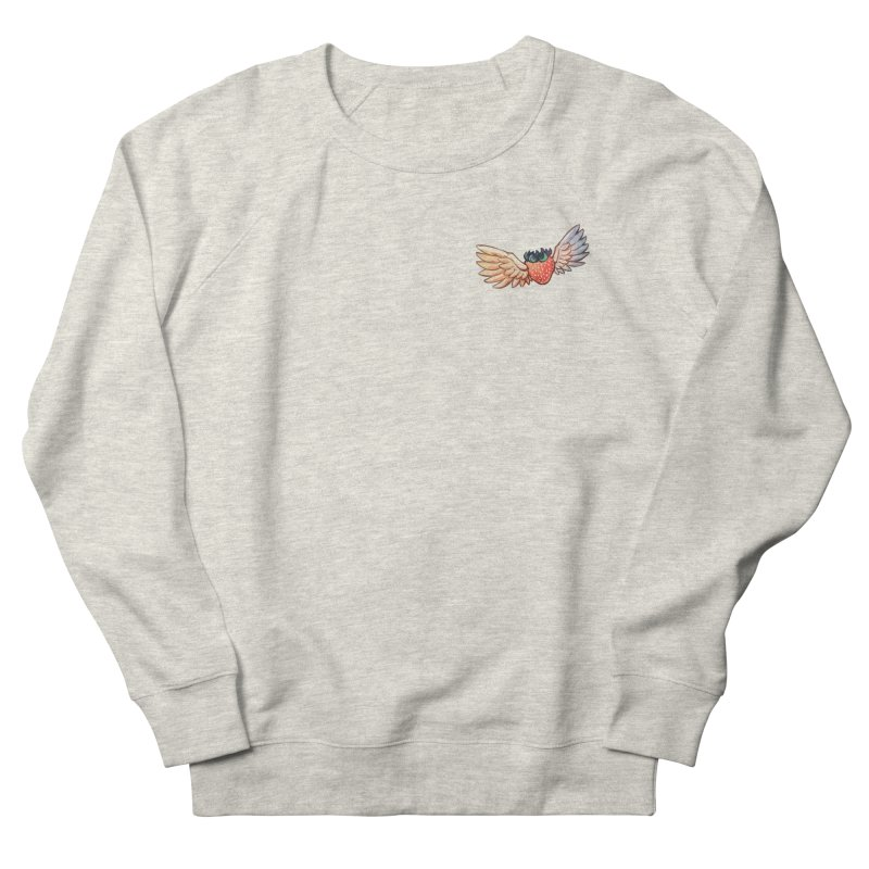 Strawberry Women's French Terry Sweatshirt by tulleceria
