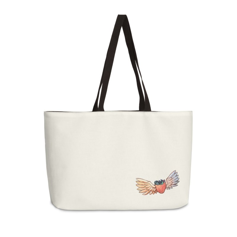 Strawberry Accessories Weekender Bag Bag by tulleceria