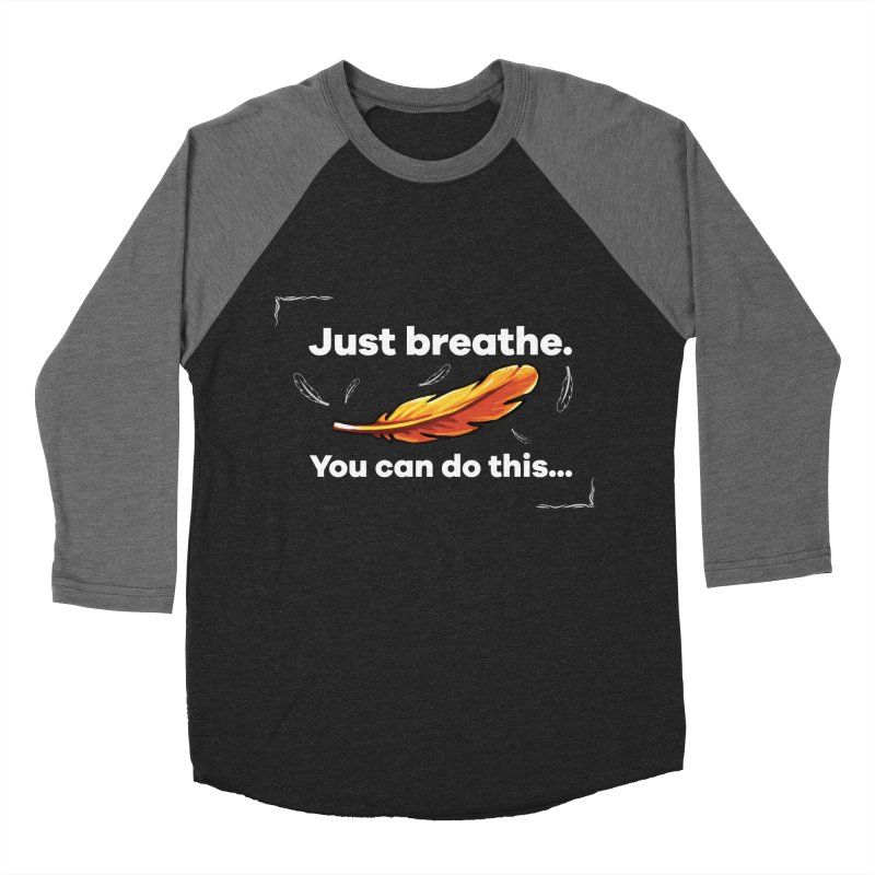Feather 2 Women's Baseball Triblend Longsleeve T-Shirt by tulleceria
