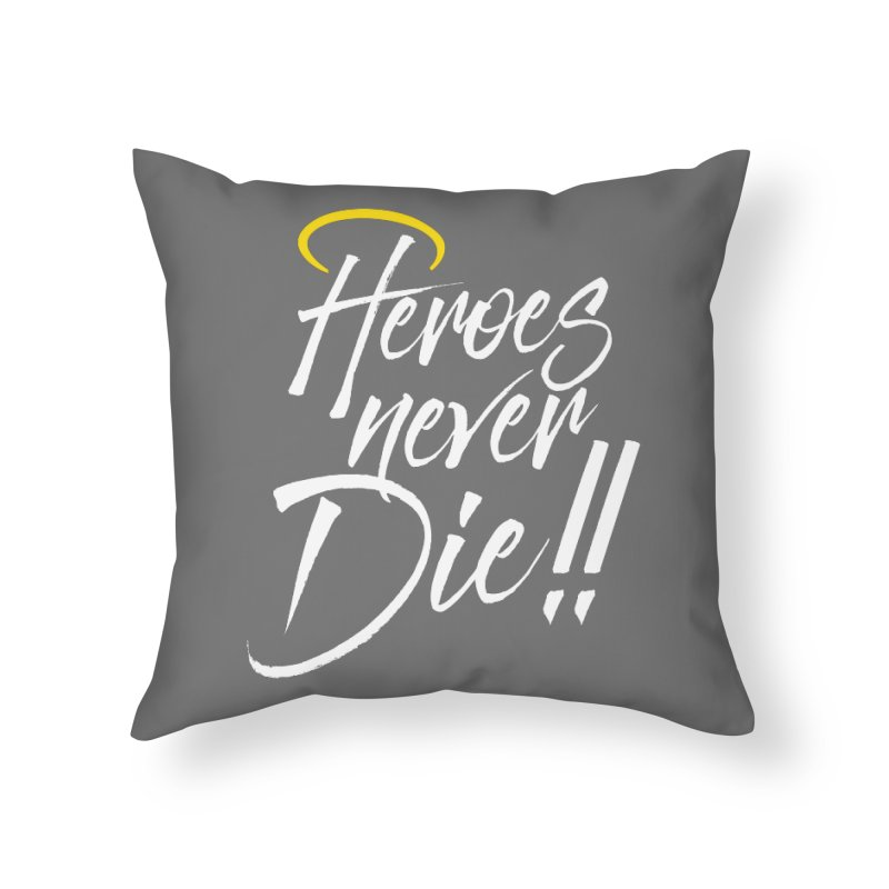 Mercy Home Throw Pillow by tulleceria