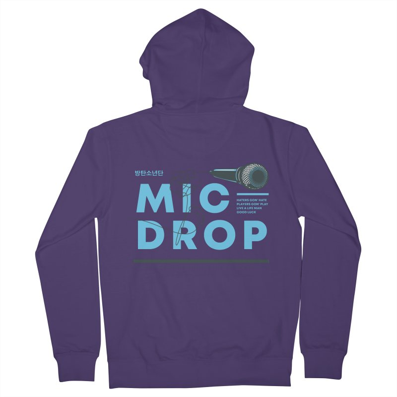 BTS Mic Drop Women's Zip-Up Hoody by tulleceria
