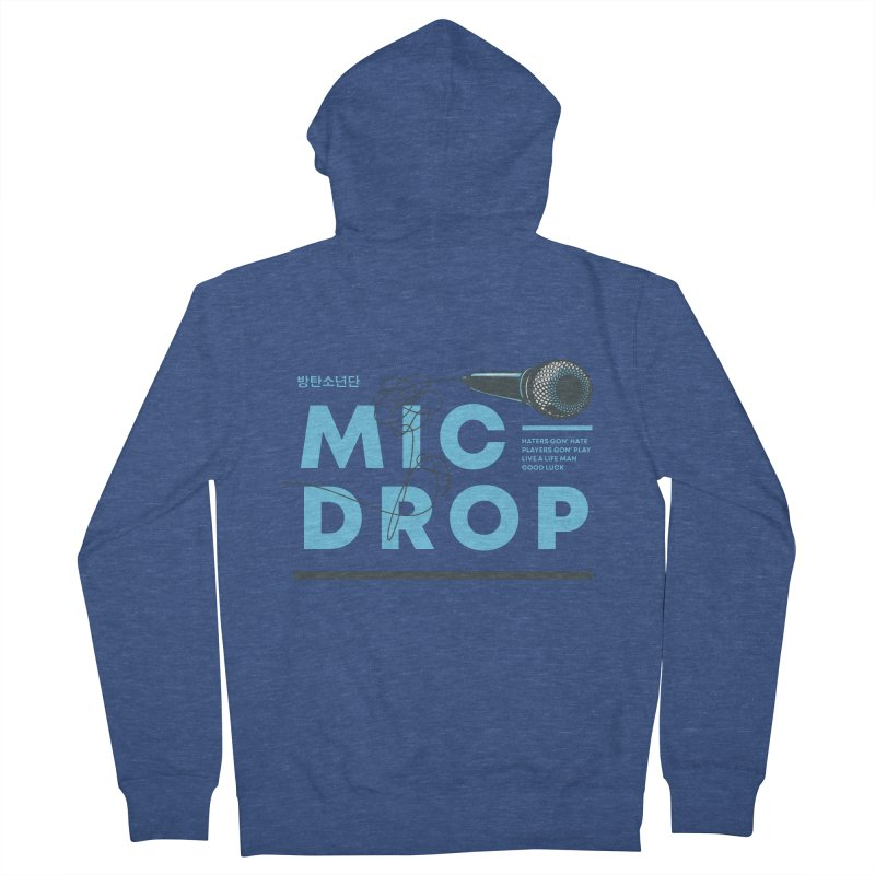 BTS Mic Drop Men's Zip-Up Hoody by tulleceria