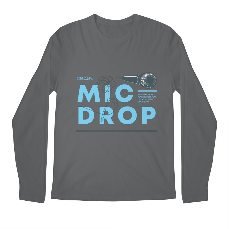 BTS Mic Drop Men's Longsleeve T-Shirt by tulleceria
