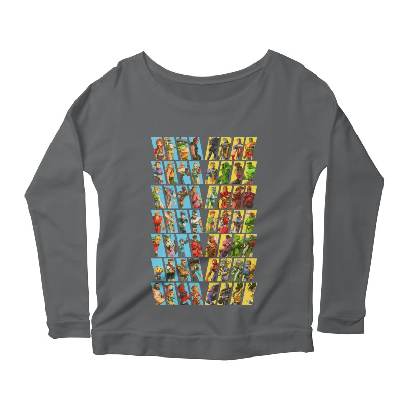 Marvel Vs Capcom 2 Women's Longsleeve Scoopneck  by tulleceria