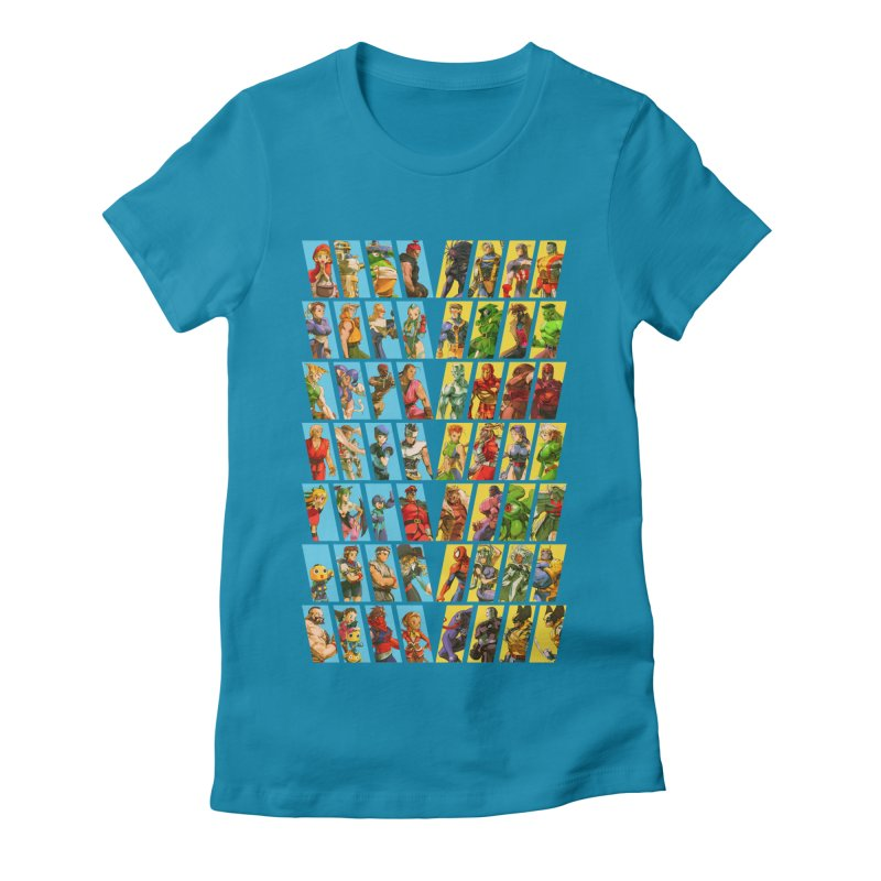 Marvel Vs Capcom 2 Women's Fitted T-Shirt by tulleceria