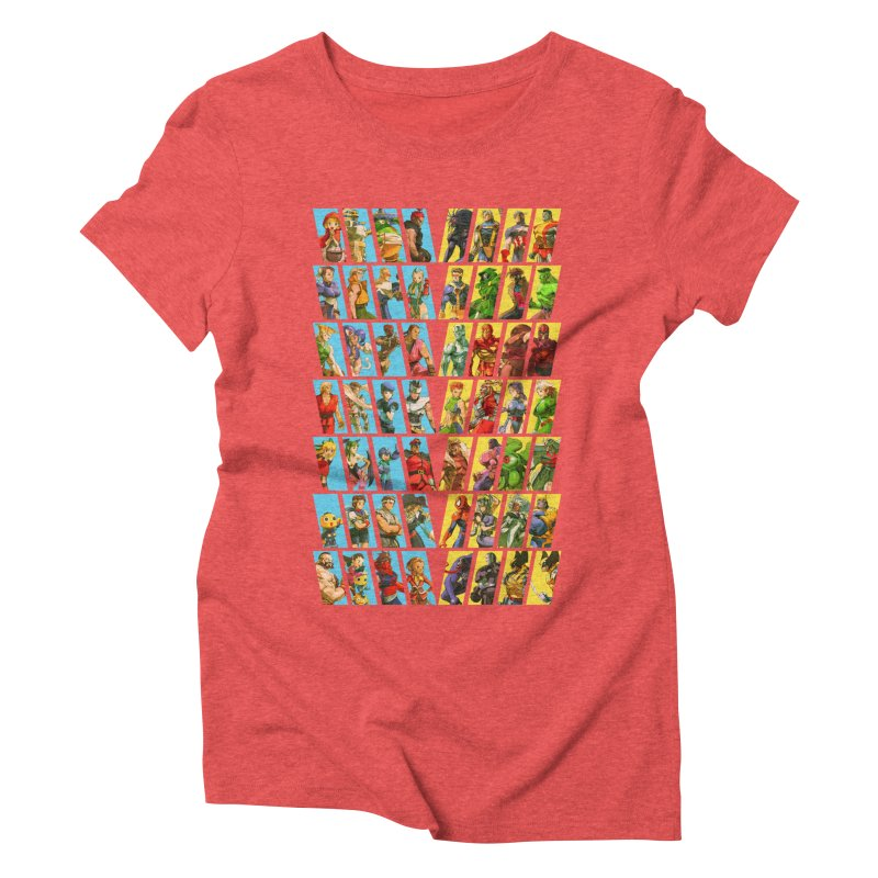 Marvel Vs Capcom 2 Women's Triblend T-Shirt by tulleceria