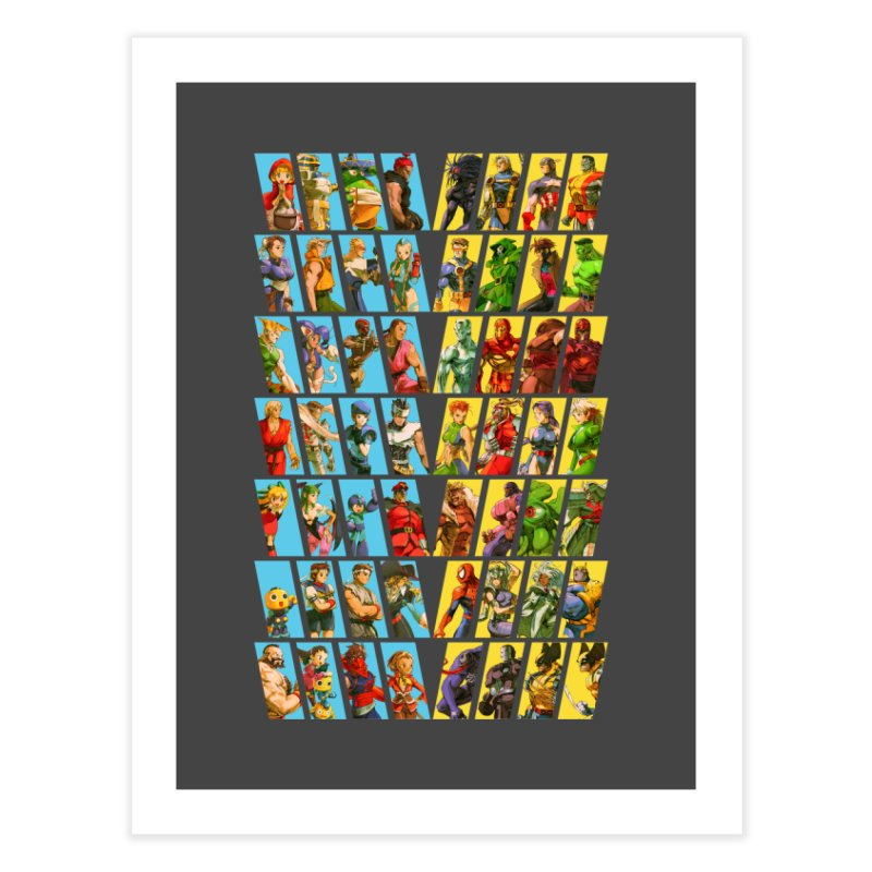 Marvel Vs Capcom 2 Home Fine Art Print by tulleceria