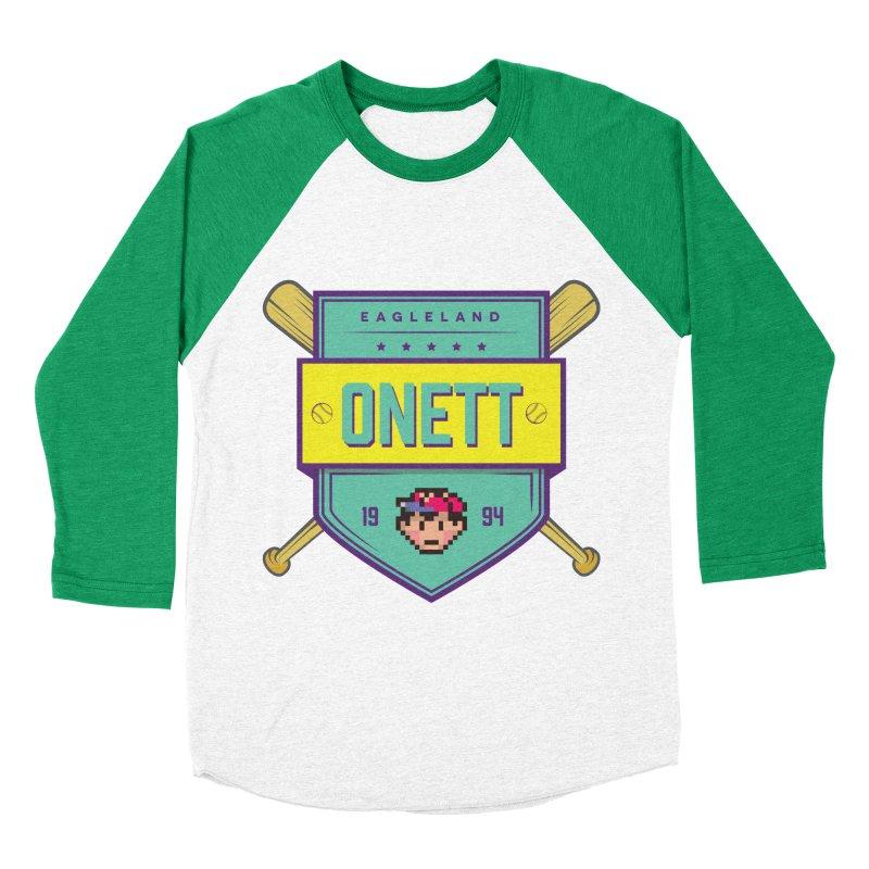 Earthbound Onett Men's Baseball Triblend T-Shirt by tulleceria