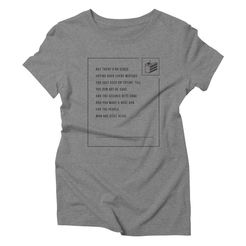 Portal Women's Triblend T-shirt by tulleceria