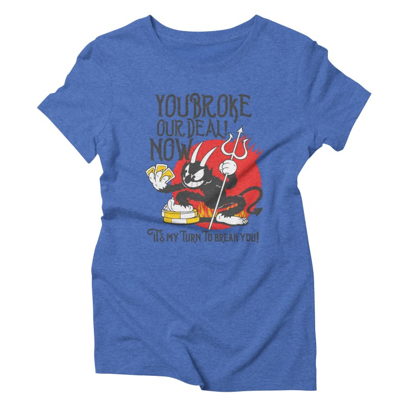 Cuphead Devil Women's Triblend T-Shirt by tulleceria