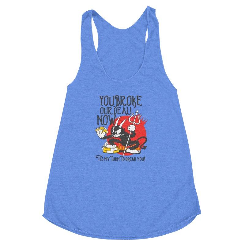 Cuphead Devil Women's Racerback Triblend Tank by tulleceria