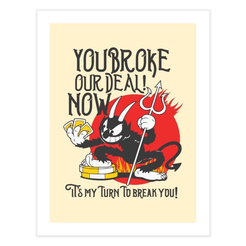 Cuphead Devil Home Fine Art Print by tulleceria
