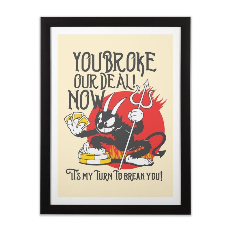 Cuphead Devil Home Framed Fine Art Print by tulleceria