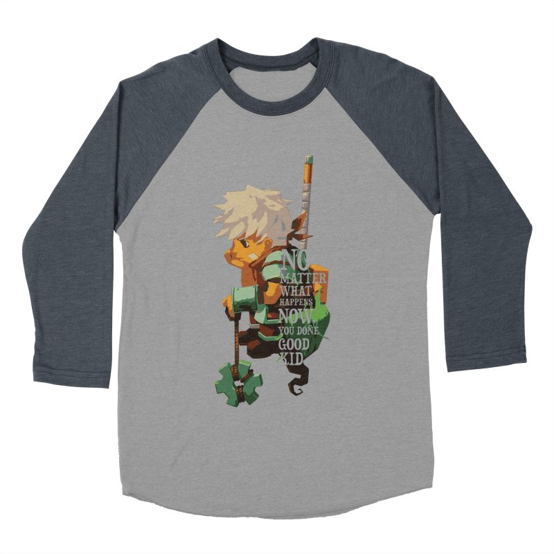 Bastion The Kid Men's Baseball Triblend T-Shirt by tulleceria